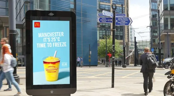 Personalized Digital Out of Home Advertising Board in City Centre