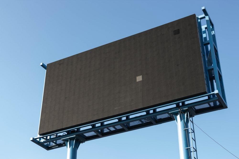 blank advertisement billboard