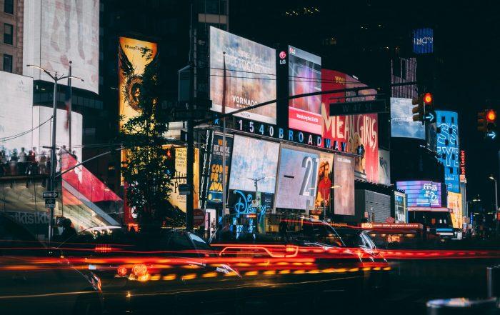 Image showing outdoor billboards using programmatic DOOH